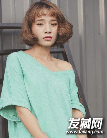 短发烫发太火了 甜美超短发梨花头发型的设计(2)
