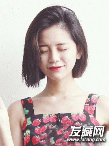 短发齐肩的发型发型耳上部分头发烫卷蓬松→a短发的适合圆脸发型烫发短发两边短图片