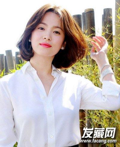 齐肩短发发型设计图片 方脸圆脸都适合(6)