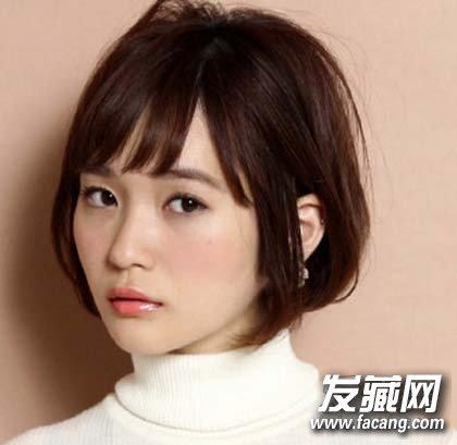 刘海来取长补短 菱形脸适合什么发型(5)