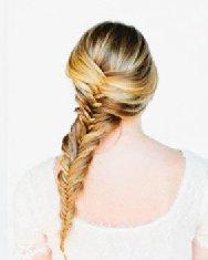 姑娘都爱鱼骨辫发型设计 详细编法图解你会了吗?