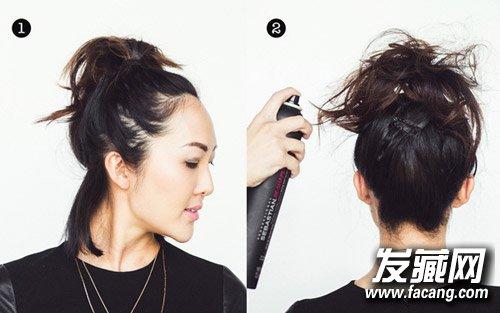 """头发竟成""""热源地"""" 夏季中发发型这样扎(7)"""