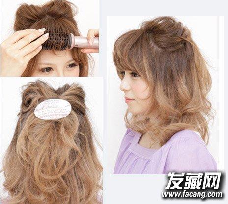 发型网 发型diy 编发教程 > angelababy抱猫咪卖萌 学猫耳朵扎发美过图片