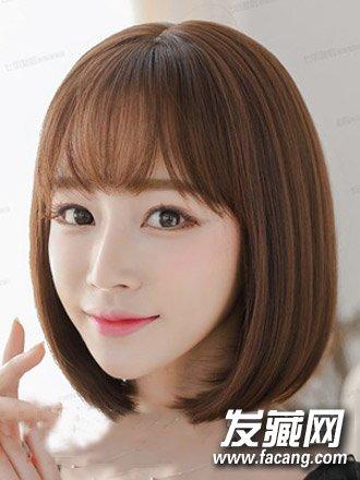 空气弄补丁好看搭短发刘海嫩如发型人青女少女剑灵狼发型图片
