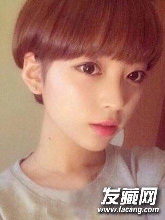 2015女学生短发发型图片 轻松扮靓校园风(9)