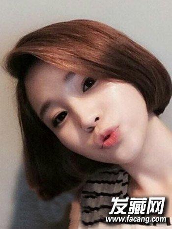 女生学生头短发图片 清新甜美的空气刘海发型(6)