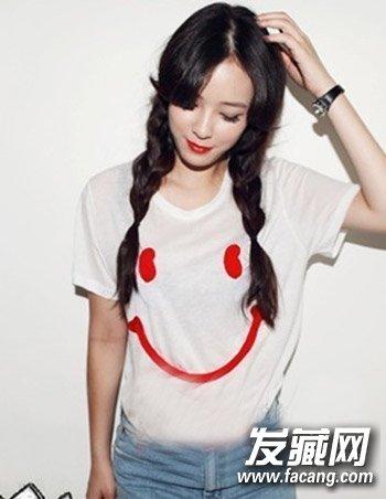 慵懒范十足侧马尾发型扎发 韩国女生可爱发型推荐(3)