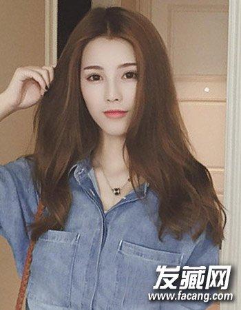 魅力韩式中分发型图片 让中分拯救平凡的你(2)图片