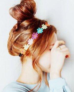 桃心形的花苞头盘发方法 8款美美备战七夕节