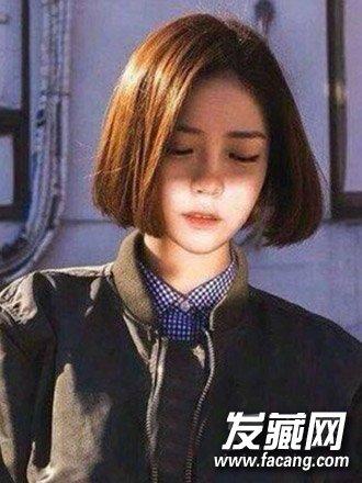 【图】甜美的空气刘海与中短发烫发发型(2)图片