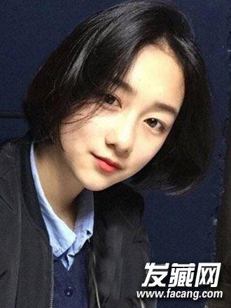 【图】甜美的空气刘海与中短发烫发发型(5)图片