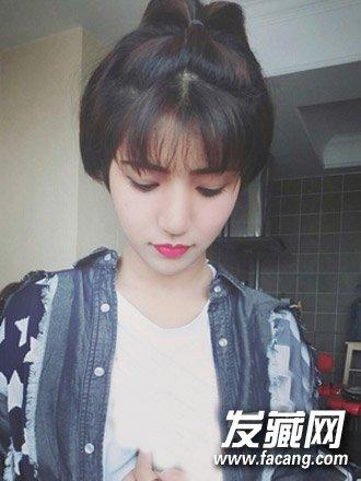 s型刘海怎么剪      十分精致的超短发发型,可爱的短发苹果头发型与