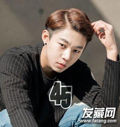 短发烫发男      帅气的男生背头发型的设计,气质的偏分再加上个性的图片