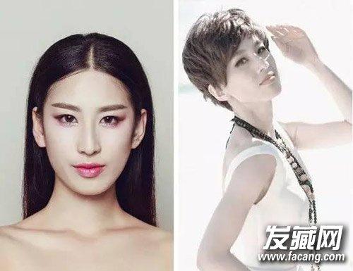 短发发型百搭脸型 明星示范不同脸型怎么选(8)图片