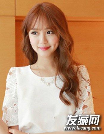 齐刘海发型图片 专为大脸女生准备(9)