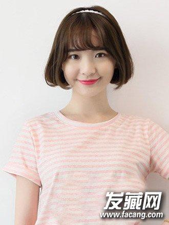9款可爱发型时尚灵动(5)  导读:圆脸可爱发型五 甜美的空气刘海与中