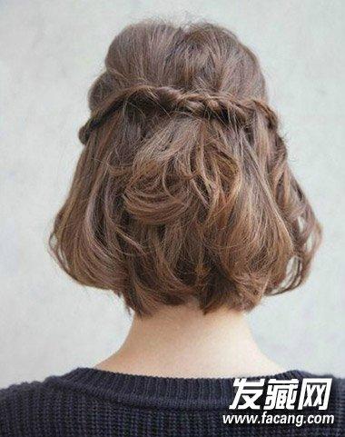 短发发型辫子步骤