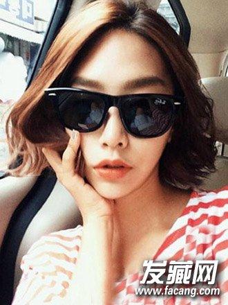 甜美的韩式短卷发发型 这些款矮个女生更适合(2)