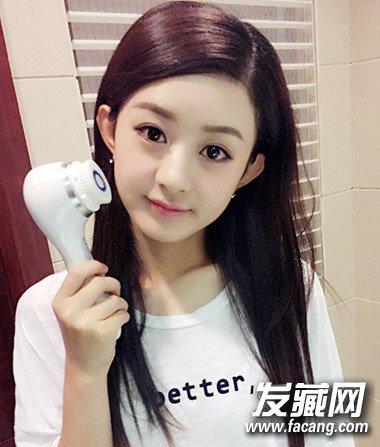 时尚发型大起底 →包子脸的赵丽颖 马尾辫更是可爱