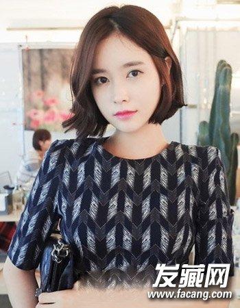 时尚中短发烫发发型 韩式短烫发最美(6)