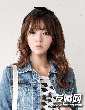 韩版刘海发型中长发发型 刘海 中长发流行图片