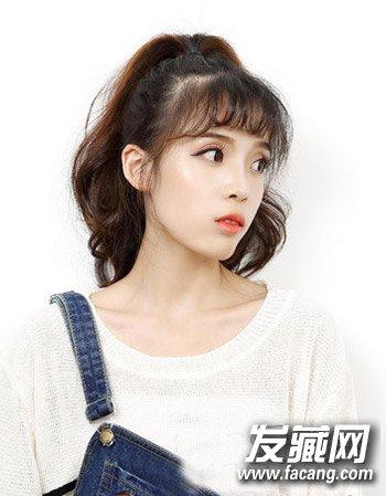 韩版刘海发型中长发发型 刘海 中长发流行(6)图片