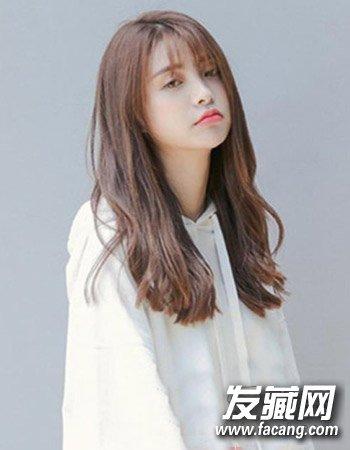 韩版刘海发型中长发发型 刘海+中长发流行(8)