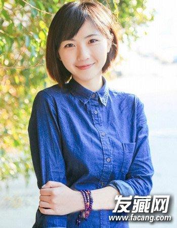韩剧女星们的零死角短发造型      圆脸短发怎么看都是很可爱的,一款