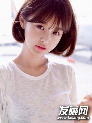 可爱清新的长直发发型 甜美可人日系齐肩中短卷发(4)