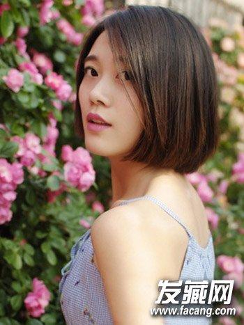 中短直发发型 清新短直发就不错(7)图片