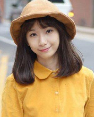 甜美的平刘海学生发型 梨花头始终是主流
