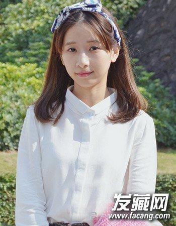 甜美的平刘海学生发型 梨花头始终是主流(8)图片