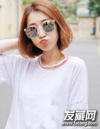 时尚韩国中短发烫发发型 清新时尚不老气(4)