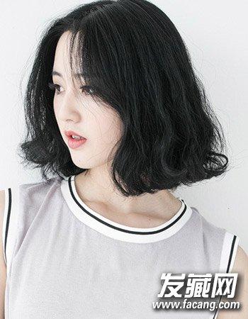 时尚韩国中短发烫发发型 清新时尚不老气(5)
