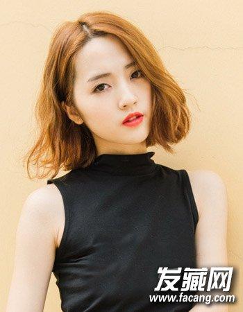 时尚韩国中短发烫发发型 清新时尚不老气(7)