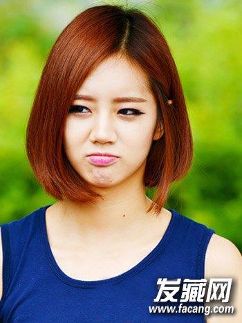 日韩流行短发烫发图片 减龄瘦脸so easy(5)