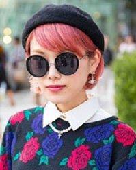 日系粉色染发发型图片 中性风的甜美长短发都这么美!