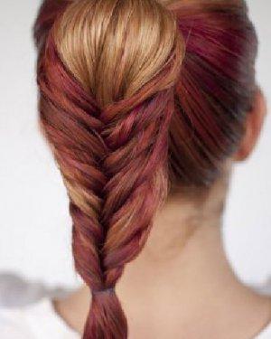鱼尾辫的编法图解 简单的鱼尾编发发型设计