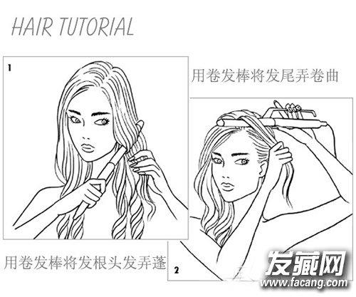 > 中分蓬松卷发发型设计 学赵丽颖做文艺女神(5)       扎发步骤