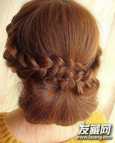 超简单新娘盘发教程 新娘盘发发型图片