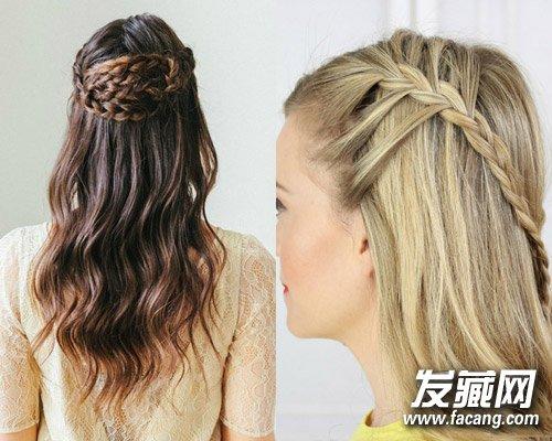 图中这两款公主头发型都很闲时尚感
