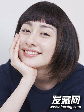 适合淑女系学生中短发发型 清新文艺范(6)图片