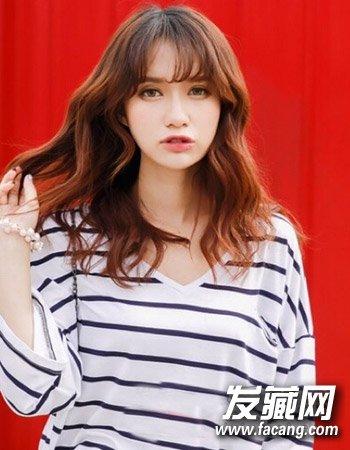 韩式齐肩微卷发发型 气质中长发微卷发(7)图片