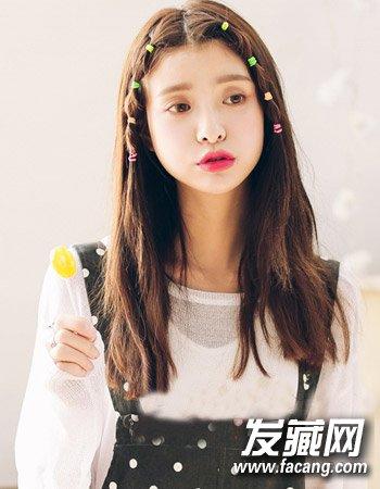 韩式齐肩微卷发发型 气质中长发微卷发(6)图片