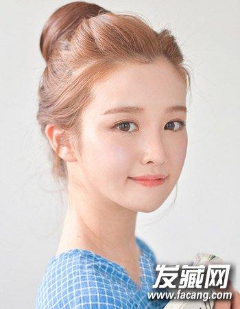 韩式包包头发型图片 清爽盘发发型(4)