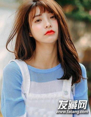柔顺的中短发发型 最新流行韩国女生发型图片 2图片