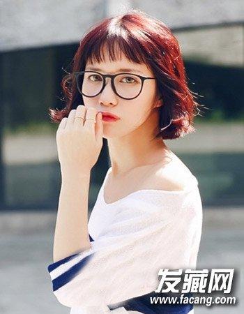柔顺的中短发发型 最新流行韩国女生发型图片(5)图片
