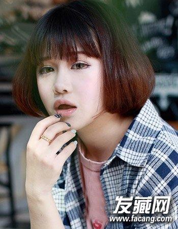 柔顺的中短发发型 最新流行韩国女生发型图片(8)图片