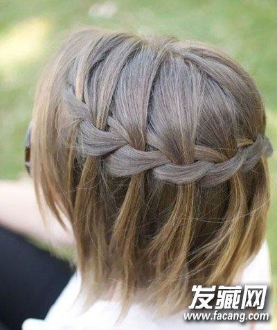 8款简单编发发型 短发也可以让头顶自然蓬松起来(4)