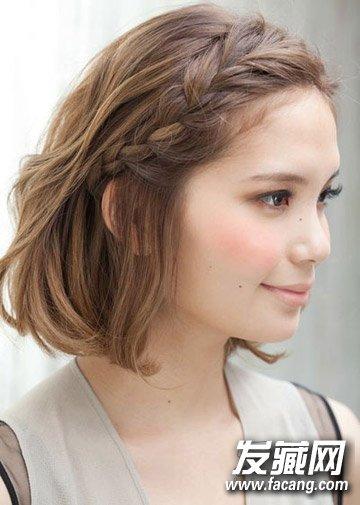 8款简单编发发型 短发也可以让头顶自然蓬松起来(7)